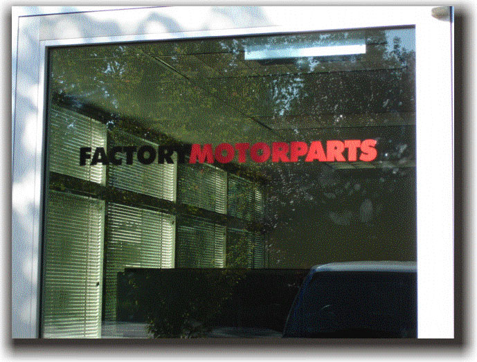 Columbia signs sign gallery of vinyl letters portland for Factory motor parts portland